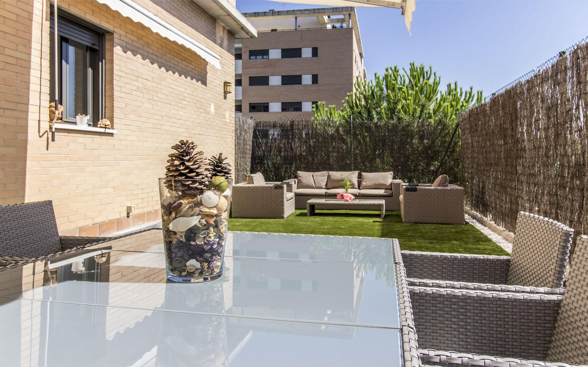 Jardín privado del bajo con jardín en Las Mercedes