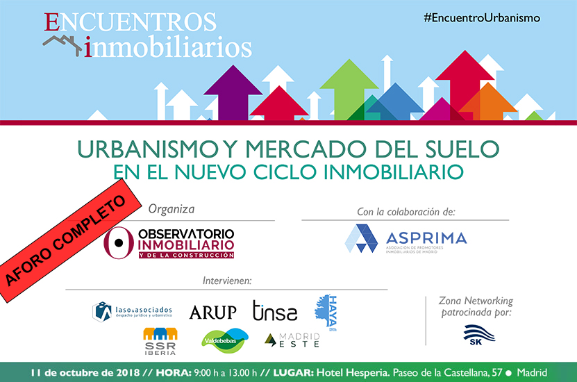 Jornada de urbanismo y mercado de suelo Observatorio Inmo